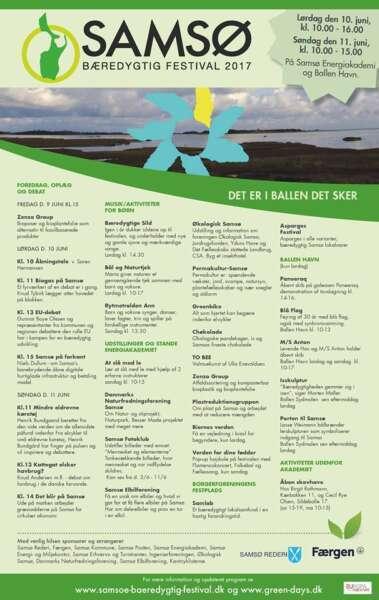 Samsø Bæredygtig Festival 2017