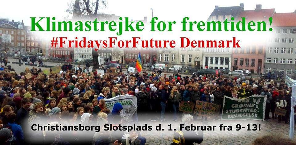 Klimastrejke København 1. Februar!