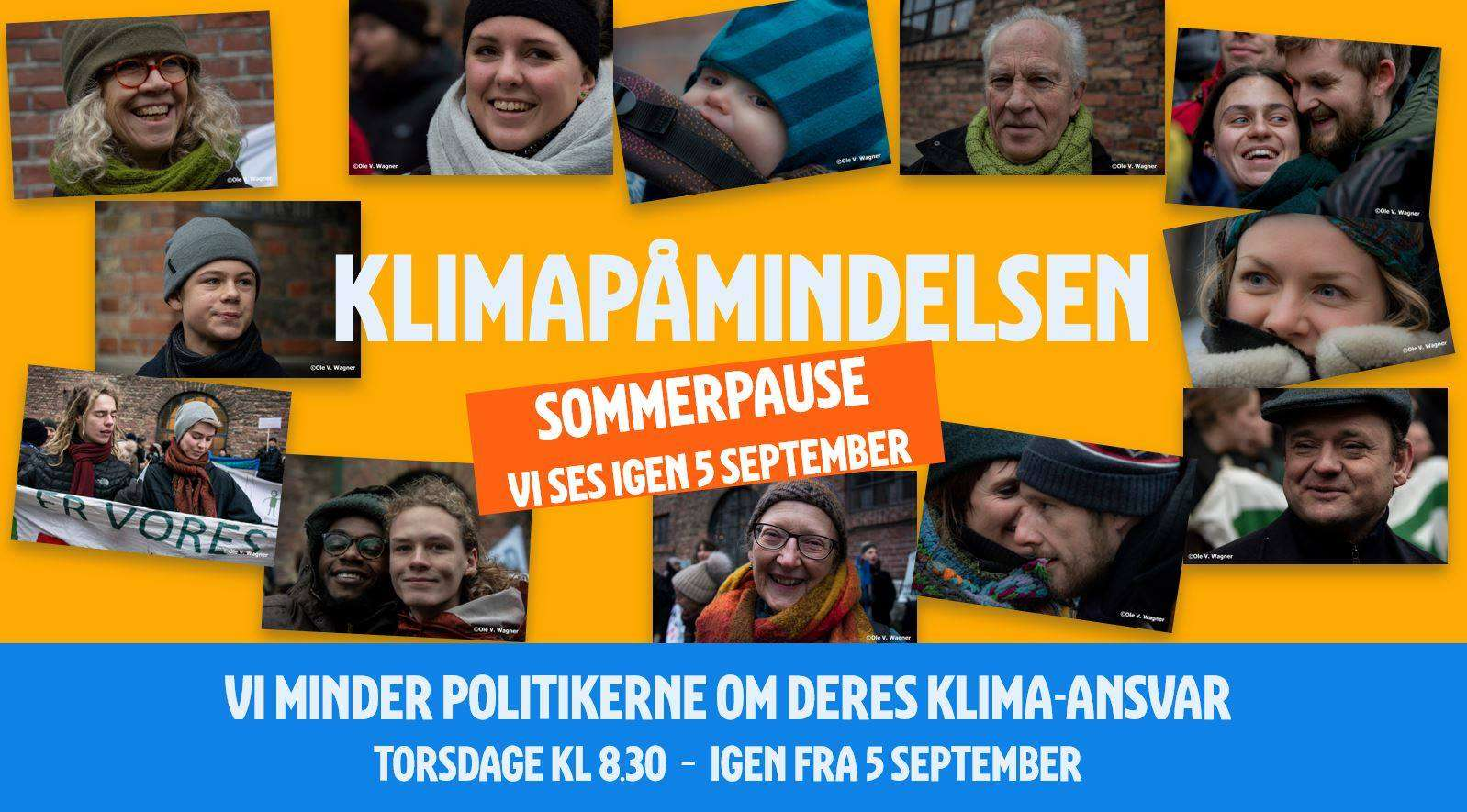 Klimapåmindelsen – hver torsdag kl. 8.30-10.00 foran Christiansborgs hovedtrappe