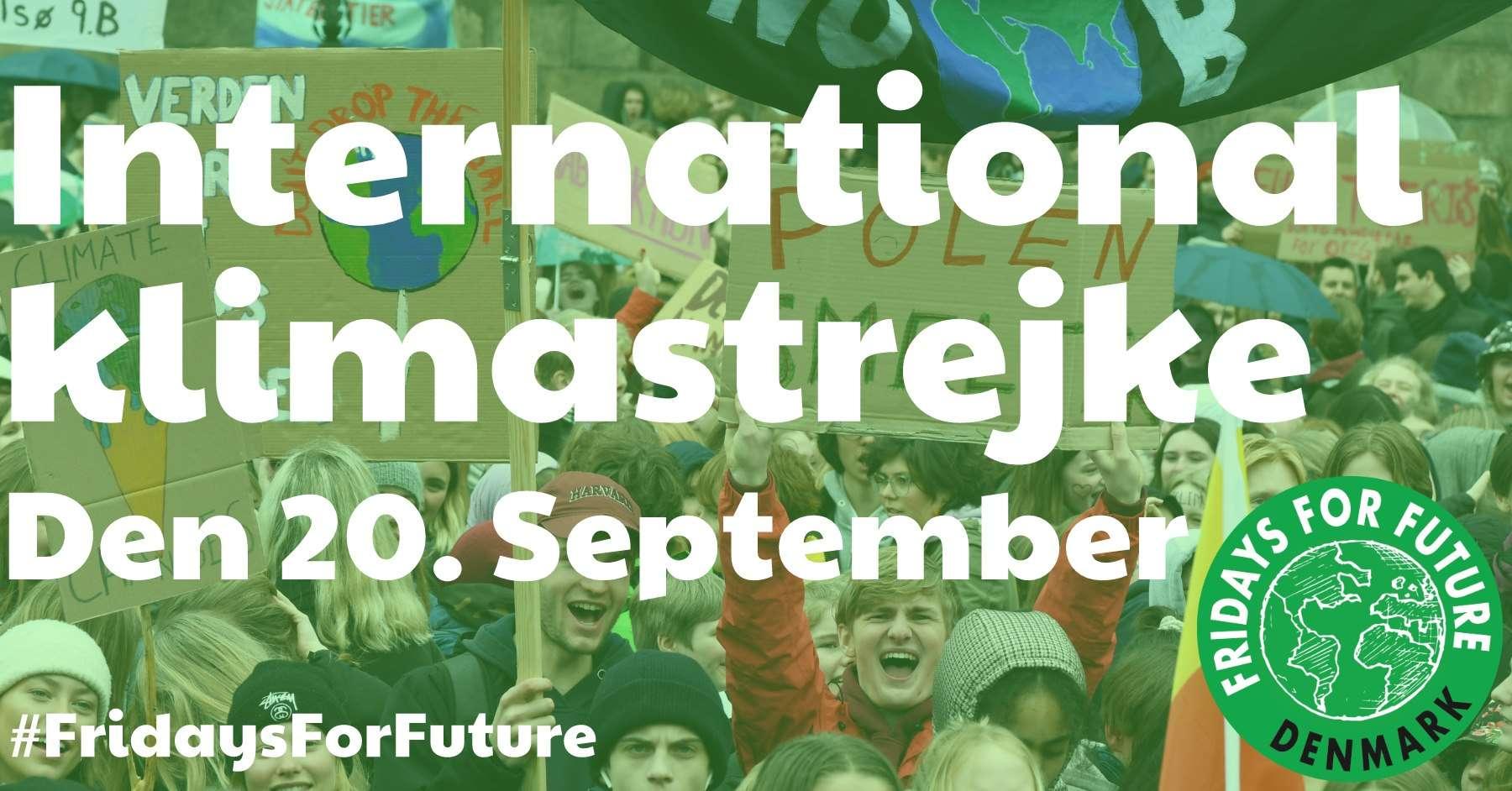 20. september: Klimastrejke København og i mange danske byer!!!