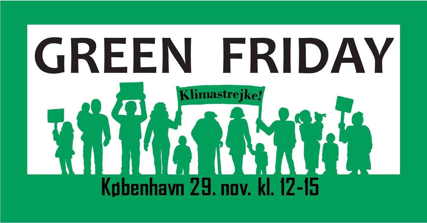 International klimastrejke København: Vi begraver Black Friday
