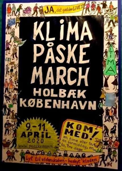 KLIMA Påskemarch 2020 Holbæk København (Udskudt pga. Corona til 16.-18. oktober 2020)