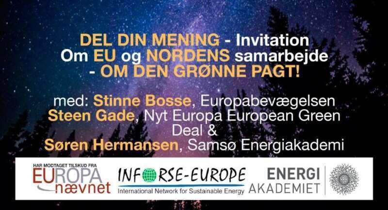 """Del din mening """" om EU og Nordens samarbejde"""" Den grønne pagt !"""